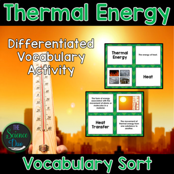 Thermal Energy Vocabulary Sort