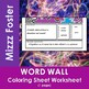 Thermal Energy Word Wall Coloring Sheet