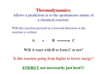 Thermodynamics and Chemical Equilibria (Handout / Study Aid)