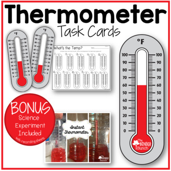 Thermometer Task Cards with BONUS Science Experiment