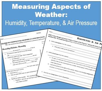 Thermometers, Relative Humidity, and Barometers (middle school)