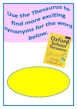 Thesaurus and Synonyms task