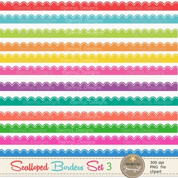 Colorful Scalloped Borders set 3