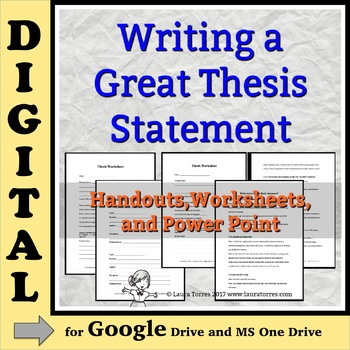 Thesis Statements DIGITAL: Writing a Great Thesis - for Go