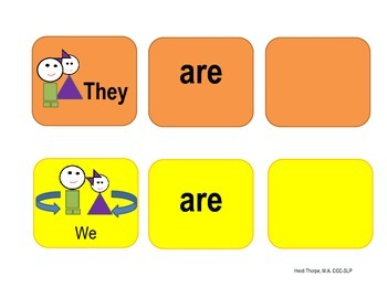 They are/We are Graphic organizer