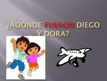 """""""They"""" form of past tense: Adonde Fueron Diego y Dora"""