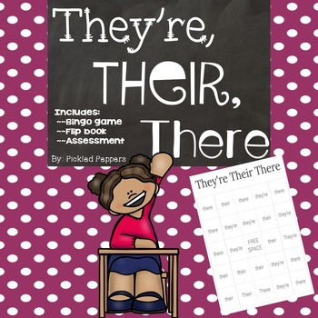 They're Their There Bingo, Flip Book, and Assessment Packe
