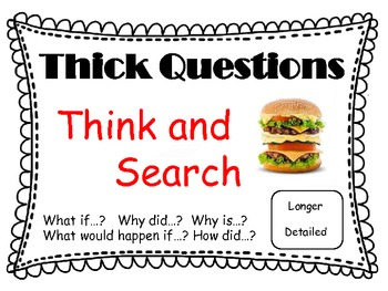 Thick and Thin Questioning Posters