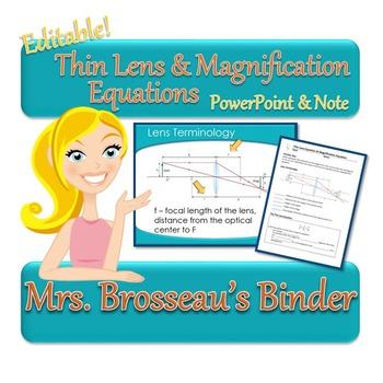 OPTICS: Thin Lens Equation and Magnification Equations: Po