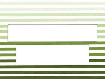 Thin Striped Green Ombre PowerPoint Template