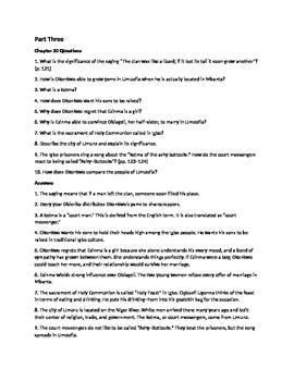 Things Fall Apart Part Three Quiz