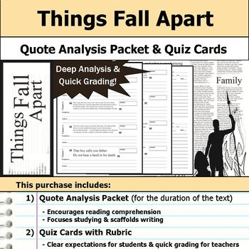 Things Fall Apart - Quote Analysis & Reading Quizzes