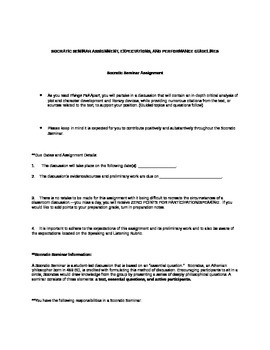 Socratic Seminar Discussion Assignment (Things Fall Apart-