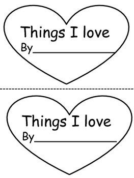 Things I love book