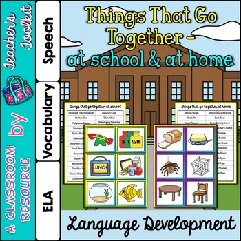 Things That Go Together At Home At School {UK Teaching Resource}