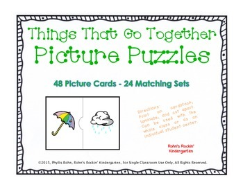 Things That Go Together Picture Puzzles