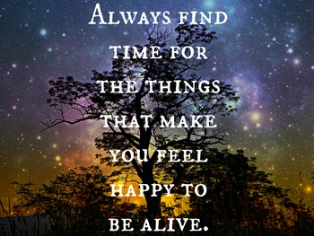 """""""Things That Make You Happy To Be Alive"""" - Motivational Poster"""