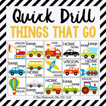 Things that GO Quick Drill! {for articulation or fluency t