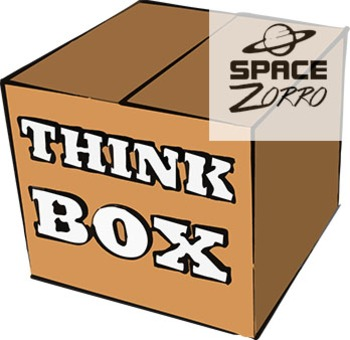 Think Box 3D image in 2 versions ( open, closed)
