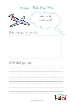 Think, Draw and Write: Aeroplane