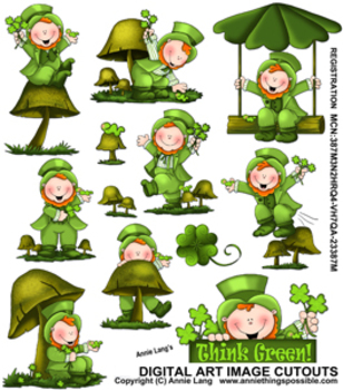 Think Green Character Clipart