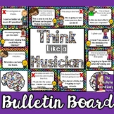 Growth Mindset Music Bulletin Board -Think Like a Musician