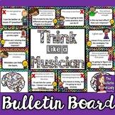 Growth Mindset Music Bulletin Board -Think Like a Musician
