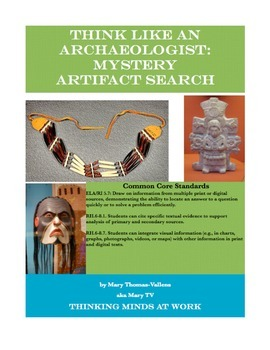 Think Archaeologist: Mystery Artifact/Native Americans/ An
