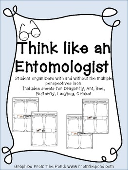 Think Like an Entomologist- Insect Worksheets