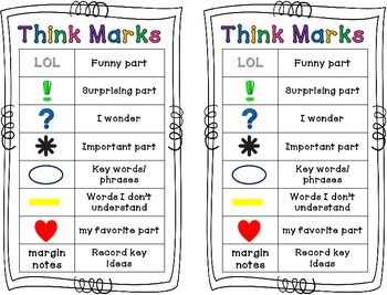 Think Marks Bookmarks