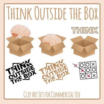 Think Outside the Box - Creative Mentality Clip Art for Co