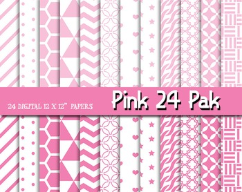 Think Pink! Patterns and Digital Papers for Fun! 12 x 12,