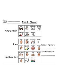 Think Sheet (Behavior Documentation)