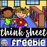 Think Sheet - Classroom Management {FREEBiE}