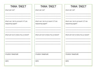 Think Sheet - Raise Responsibility
