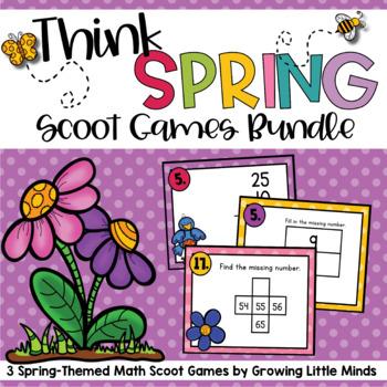 Think Spring! Scoot:  3 Game Bundle