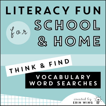 Think and Find Vocabulary Word Searches