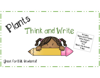 Think and Write Plants Pack