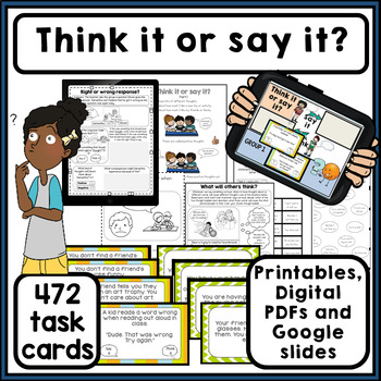 Think it or say it? 472 task cards. How my words affect ot