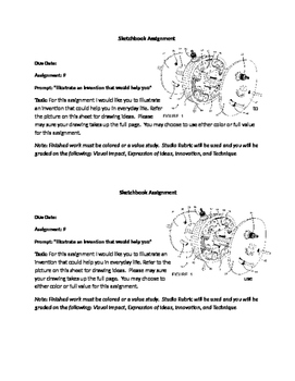 Think like an inventor sketchbook assignment