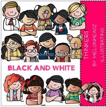 Melonheadz: Thinkers BLACK AND WHITE