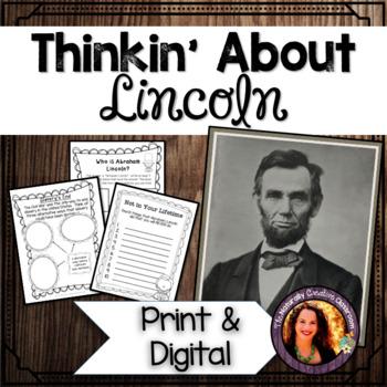 Thinkin' About Lincoln:  A FUN Abraham Lincoln creative th