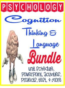 Thinking & Language Cognition Psychology Unit Bundle Power