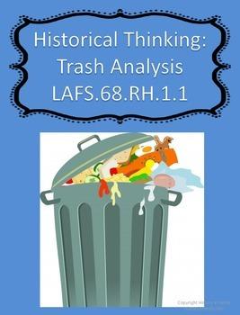 Thinking Like A Historian:  Trash Analysis Think Sheet (Ci