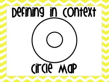 Thinking Maps Poster Teal and Yellow Chevron