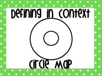 Thinking Maps Posters Lime Green and Purple Polka Dots