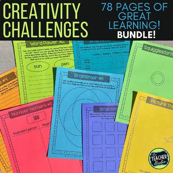 Thinking Outside the Box:  Creativity Activities Bundled Set