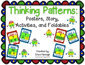 Thinking Pattern and Strip Diagram Posters, Activities, an