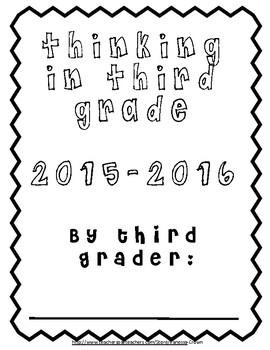 Thinking in Third: Back to School work packet for students
