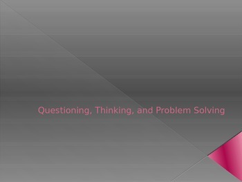 Thinking/Problem Solving Powerpoint